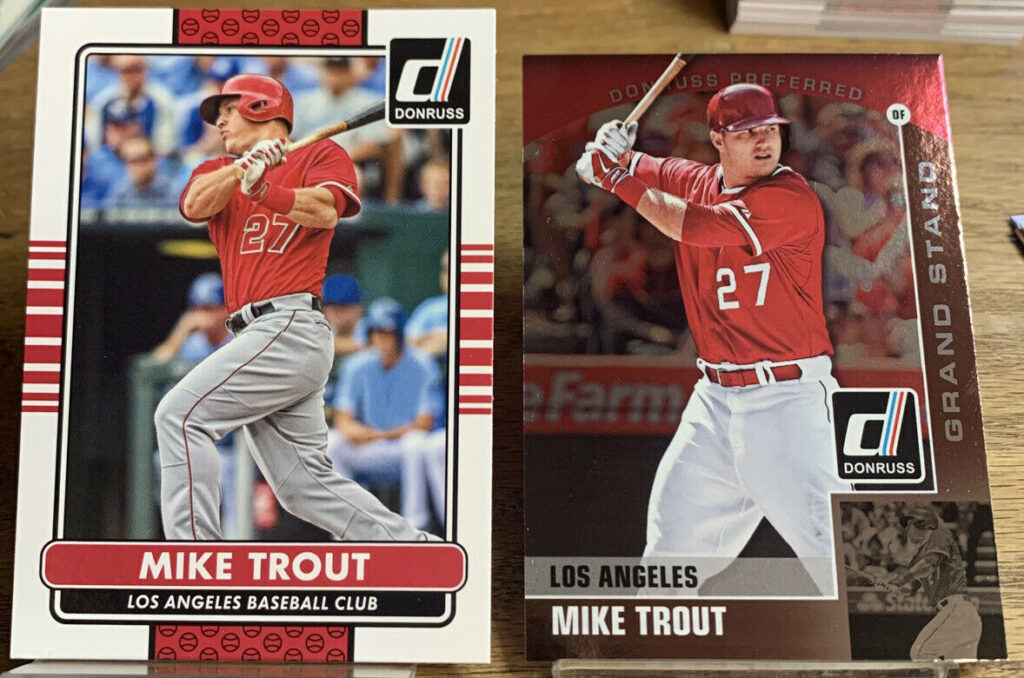 2015 Mike Trout Donruss Card #100 Donruss Preferred Grand Stand Card#18 A