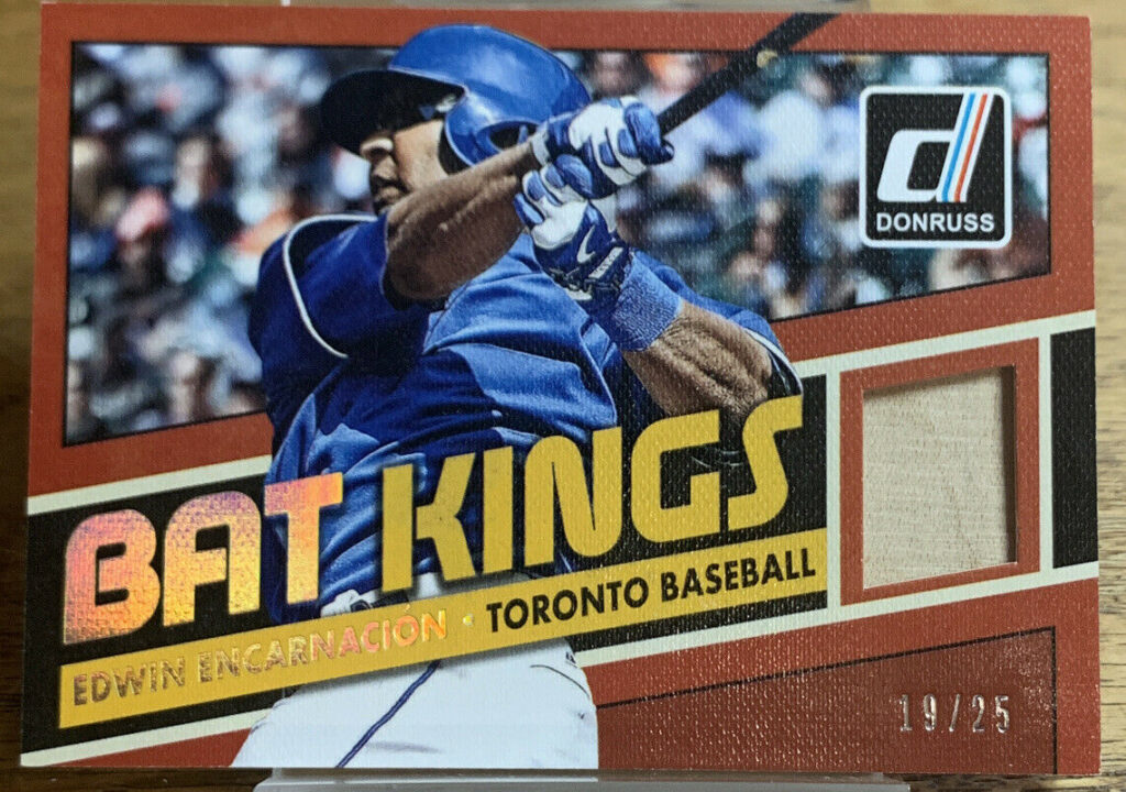 Rare 2015 Edwin Encarnacion Donruss Bat Kings Relic 19/25 Limited