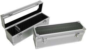 20 Slab Aluminum Box - Clear Top