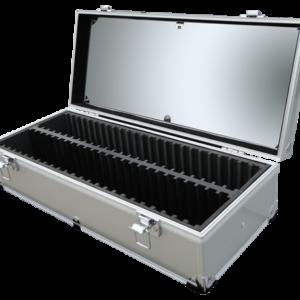 50 Slab Aluminum Box - Clear Top