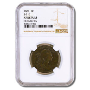 1801 Draped Bust Large Cent NGC XF Details